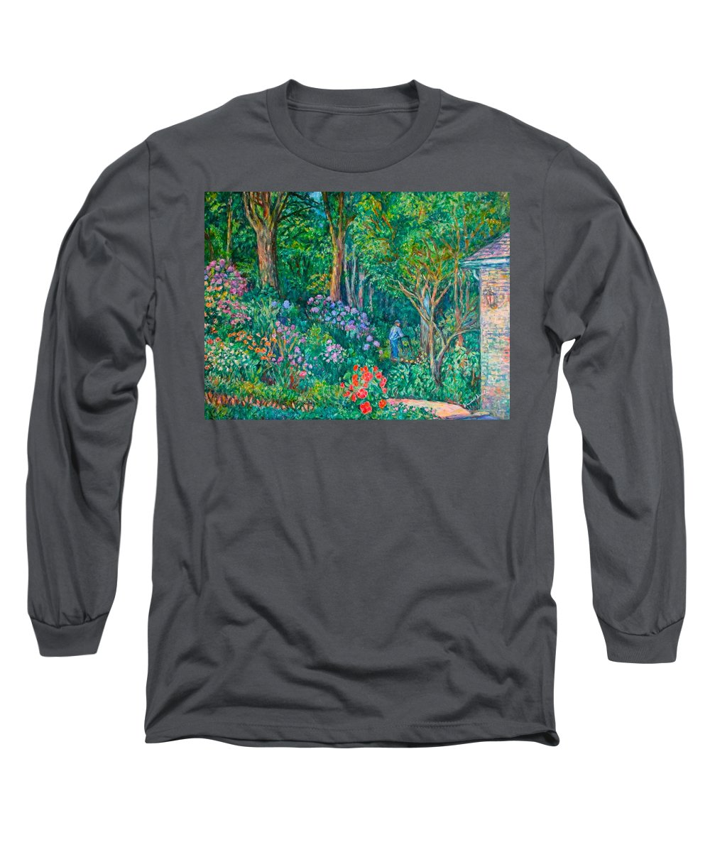 Suburban Paintings Long Sleeve T-Shirt featuring the painting Taking A Break by Kendall Kessler