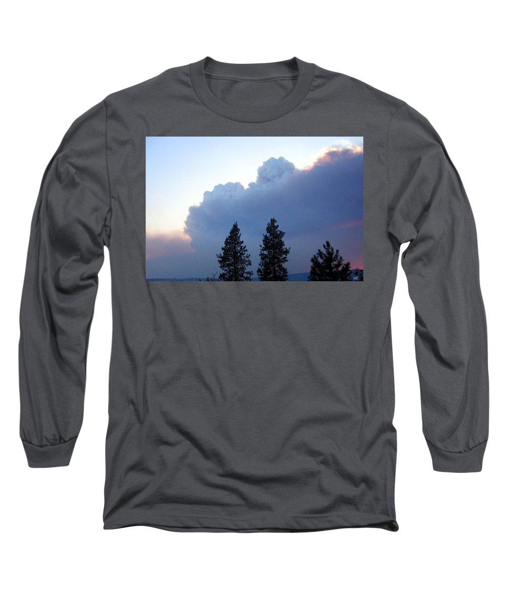 Terrace Mountain Smoke Long Sleeve T-Shirt featuring the photograph Terrace Mountain Smoke by Will Borden