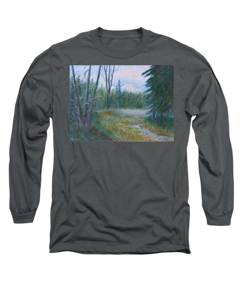 Landscape Long Sleeve T-Shirt featuring the painting Teton Valley by Ben Kiger