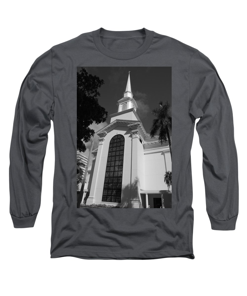 Architecture Long Sleeve T-Shirt featuring the photograph Thats Church by Rob Hans