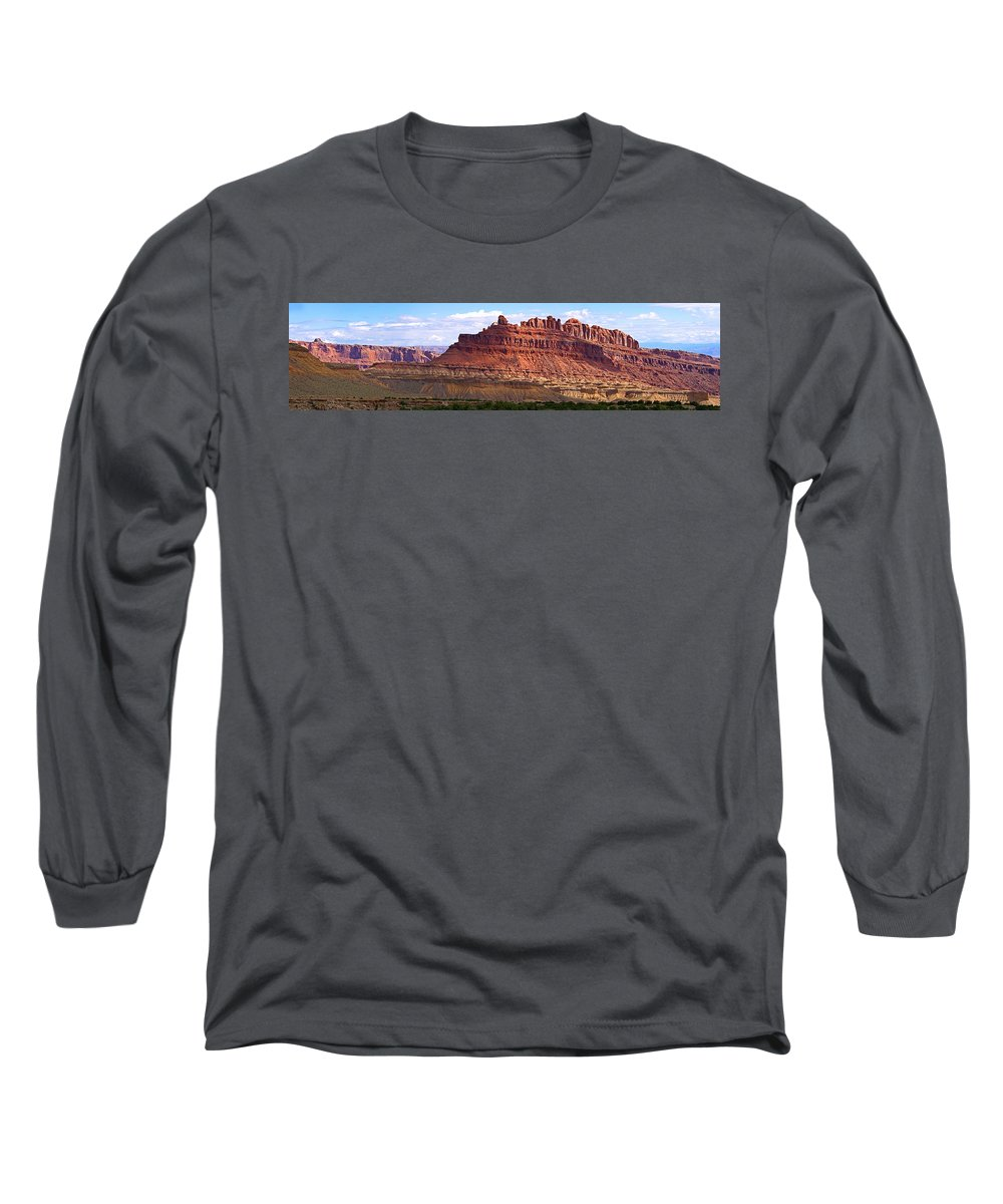 Landscape Utah Long Sleeve T-Shirt featuring the photograph The Battleship Utah by Heather Coen