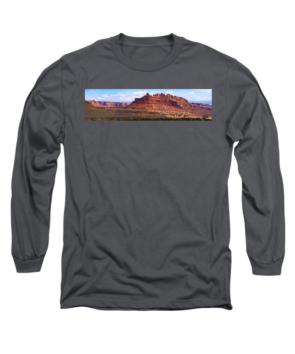 Landscape Utah Long Sleeve T-Shirt featuring the photograph The Battleship Utah by Heather Coen