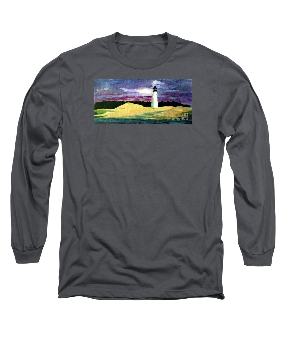Fine Art Long Sleeve T-Shirt featuring the painting The Beacon by Patricia Griffin Brett
