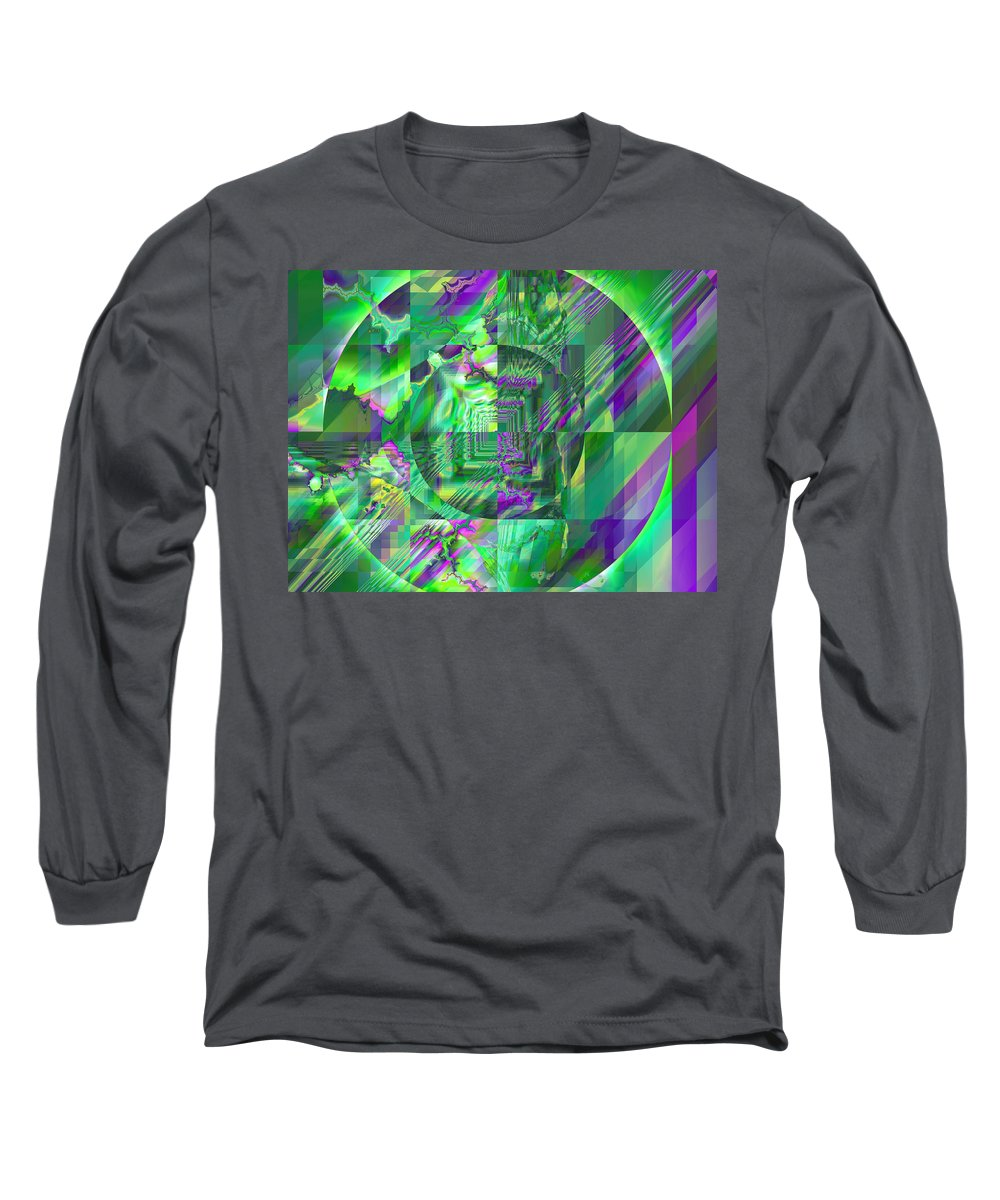 Fractal Long Sleeve T-Shirt featuring the digital art The Crazy Fractal by Frederic Durville