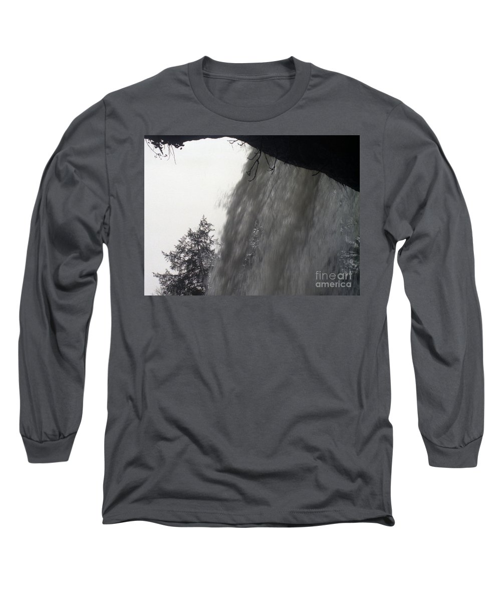Waterfalls Long Sleeve T-Shirt featuring the photograph The Falls by Richard Rizzo