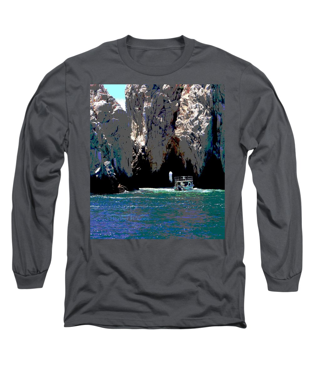 Mexico Long Sleeve T-Shirt featuring the photograph The Keyhole Mexico Cabo San Lucas by Heather Coen