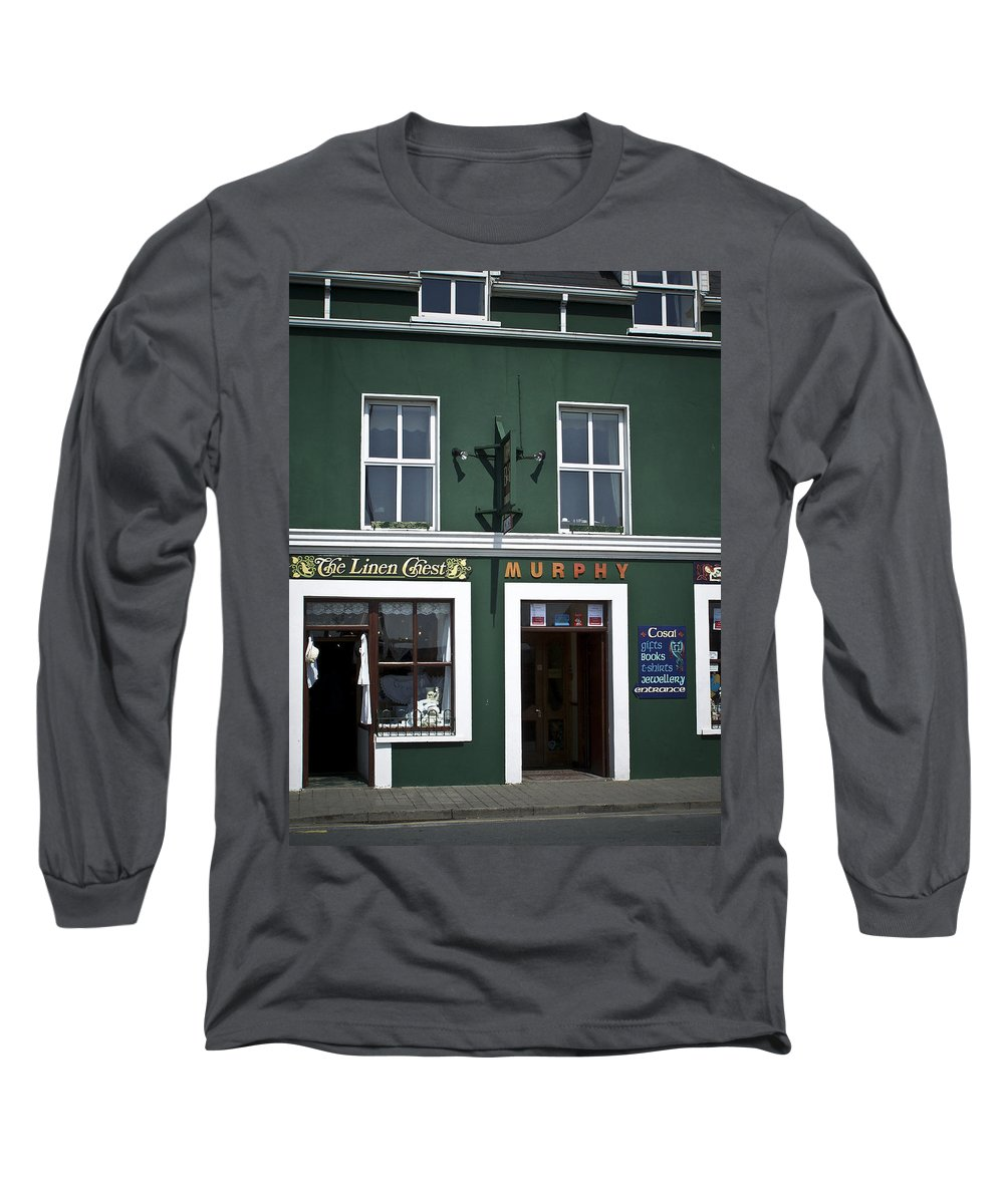 Irish Long Sleeve T-Shirt featuring the photograph The Linen Chest Dingle Ireland by Teresa Mucha