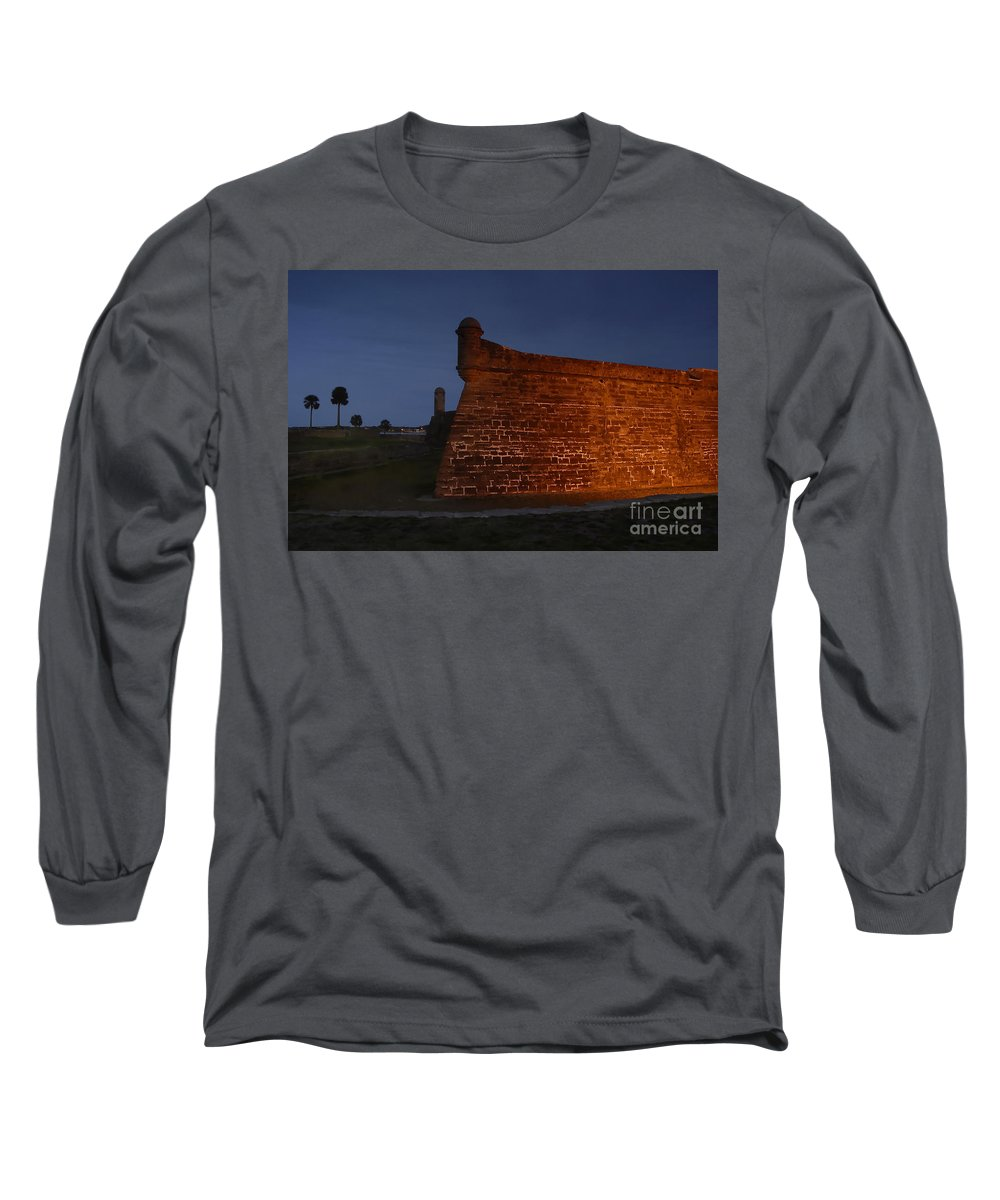 Castillo Long Sleeve T-Shirt featuring the photograph The Red Castillo by David Lee Thompson