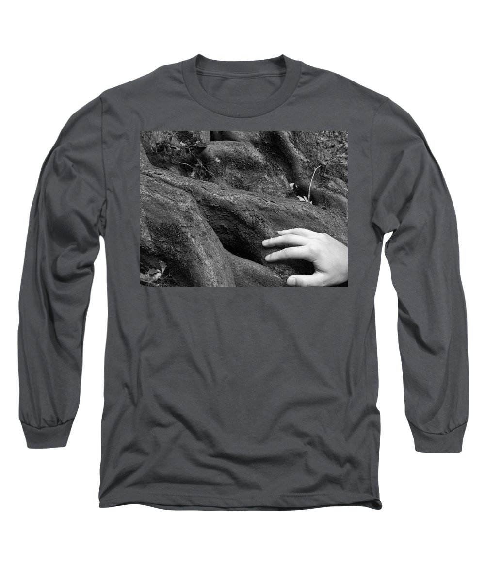 Nature Long Sleeve T-Shirt featuring the photograph The Roots by Daniel Csoka