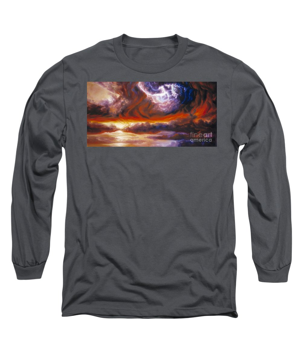 Tempest Long Sleeve T-Shirt featuring the painting The Tempest by James Christopher Hill