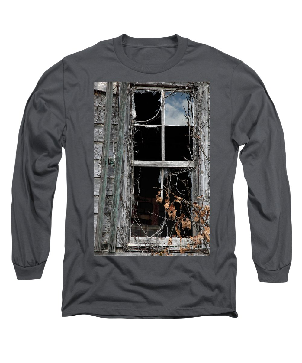 Windows Long Sleeve T-Shirt featuring the photograph The Window by Amanda Barcon