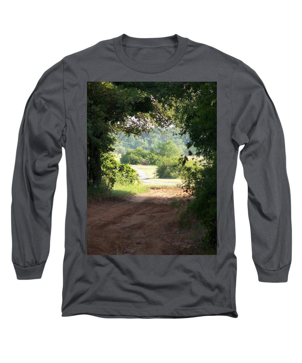 Woods Long Sleeve T-Shirt featuring the photograph Through The Woods by Gale Cochran-Smith