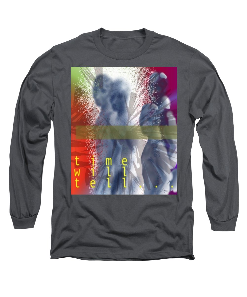 Afterlife Dream Surreal People Long Sleeve T-Shirt featuring the digital art Time Will Tell by Veronica Jackson