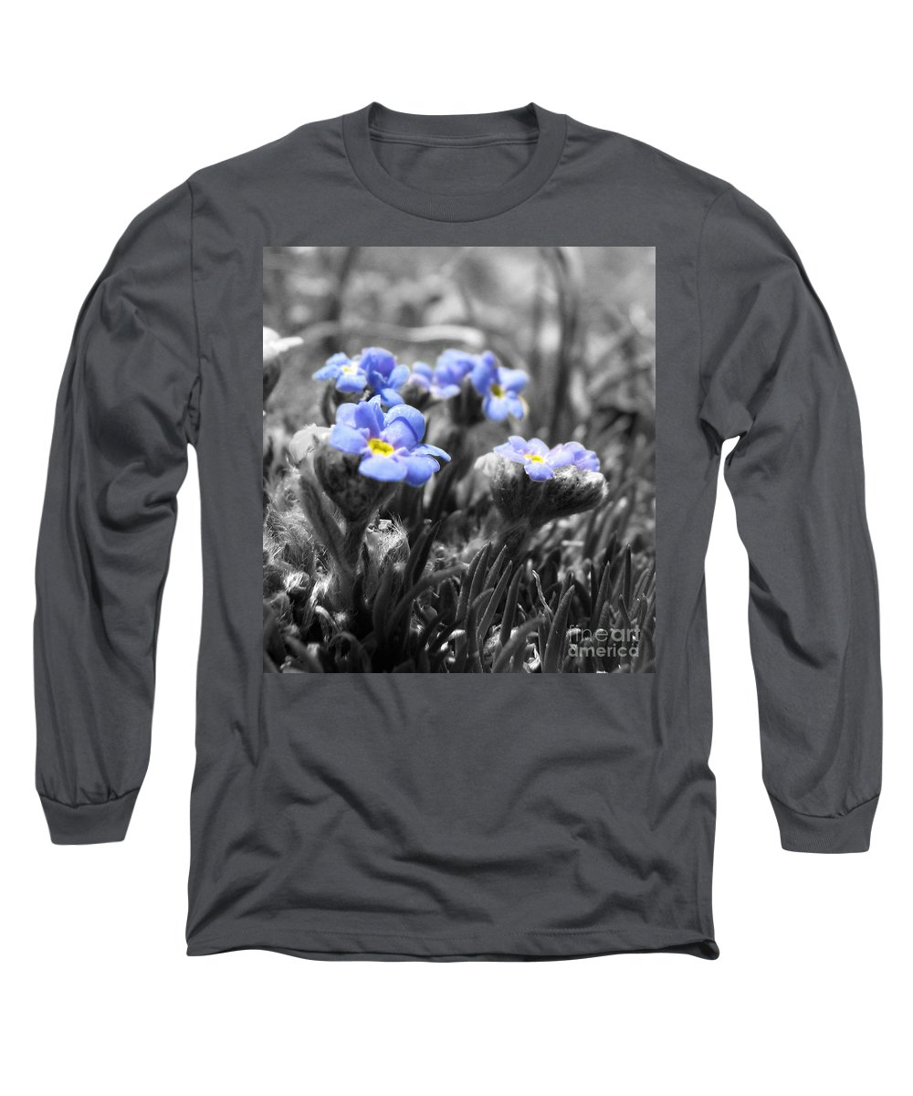 Flowers Long Sleeve T-Shirt featuring the photograph Tiny Gems by Amanda Barcon