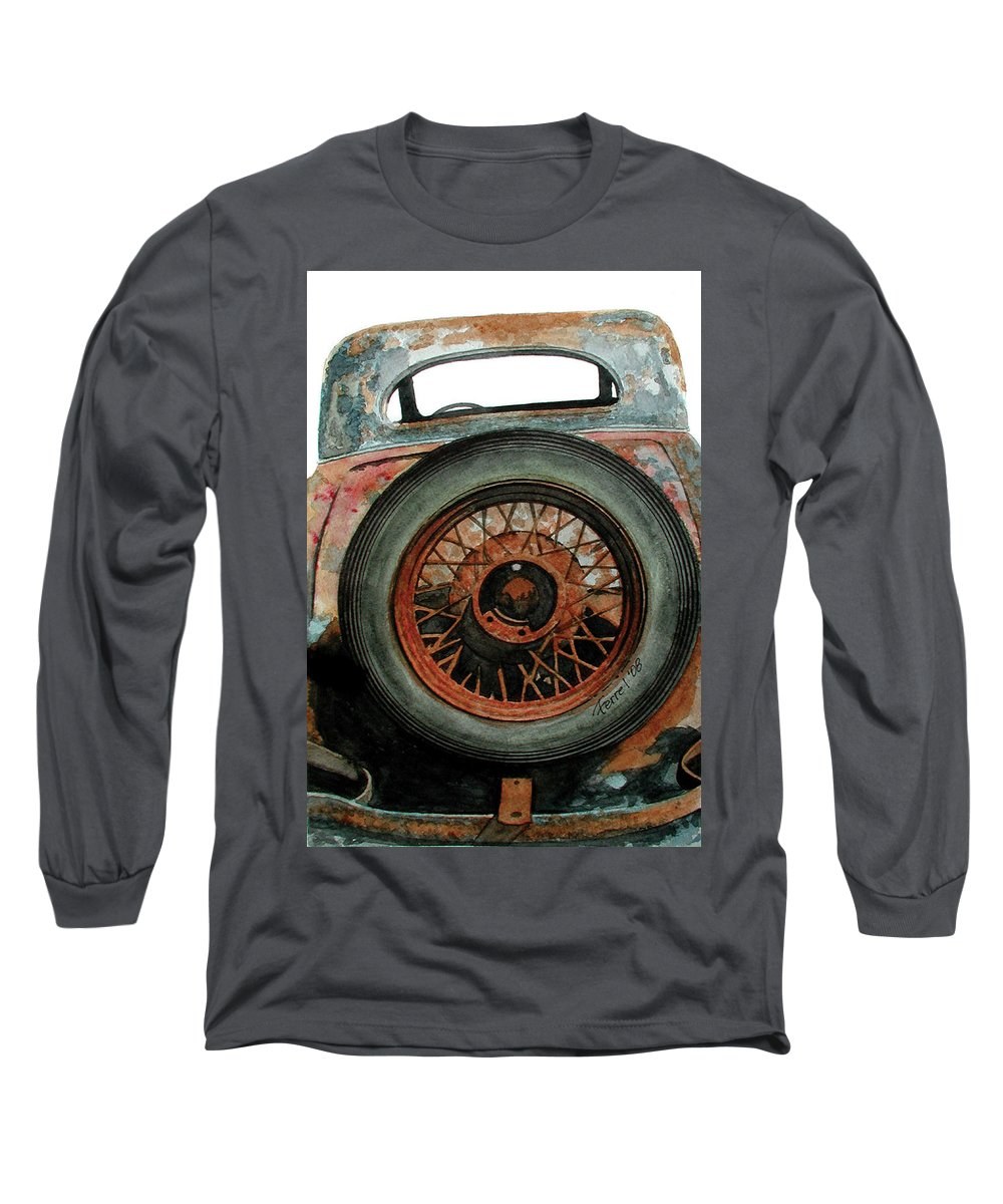 Car Long Sleeve T-Shirt featuring the painting Tired by Ferrel Cordle
