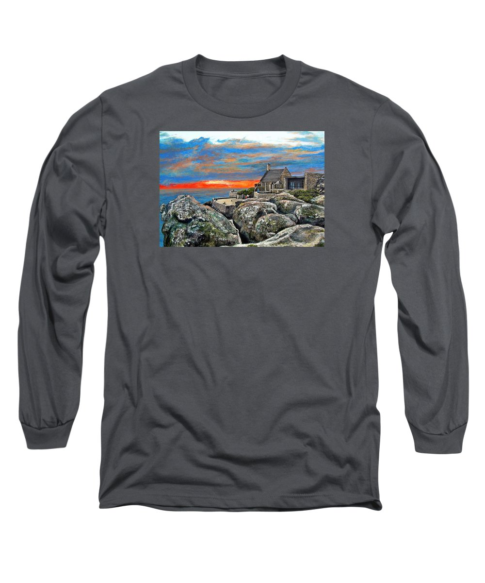 Sunset Long Sleeve T-Shirt featuring the painting Top Of Table Mountain by Michael Durst