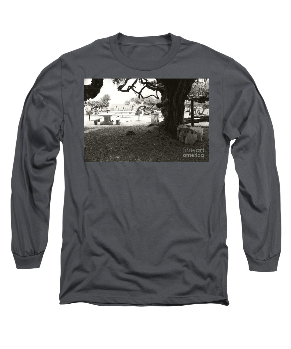 La Jolla Long Sleeve T-Shirt featuring the photograph Torrey Pines Baggage Claim by Heather Kirk