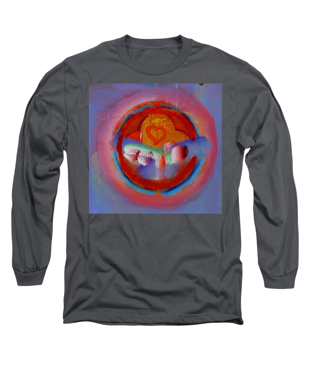 Logo Long Sleeve T-Shirt featuring the painting Towers In The Mist by Charles Stuart