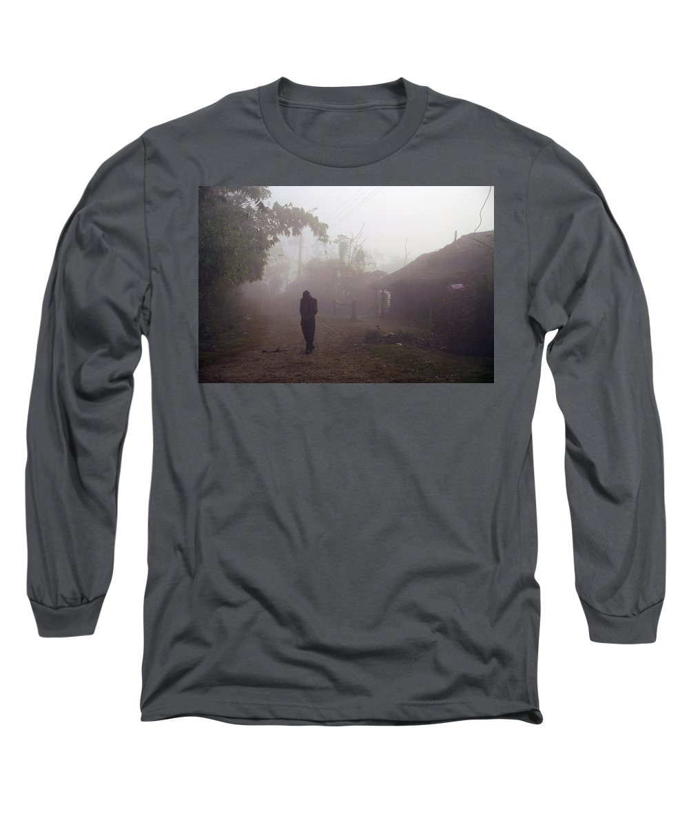 Nepal Long Sleeve T-Shirt featuring the photograph Tristesse by Patrick Klauss
