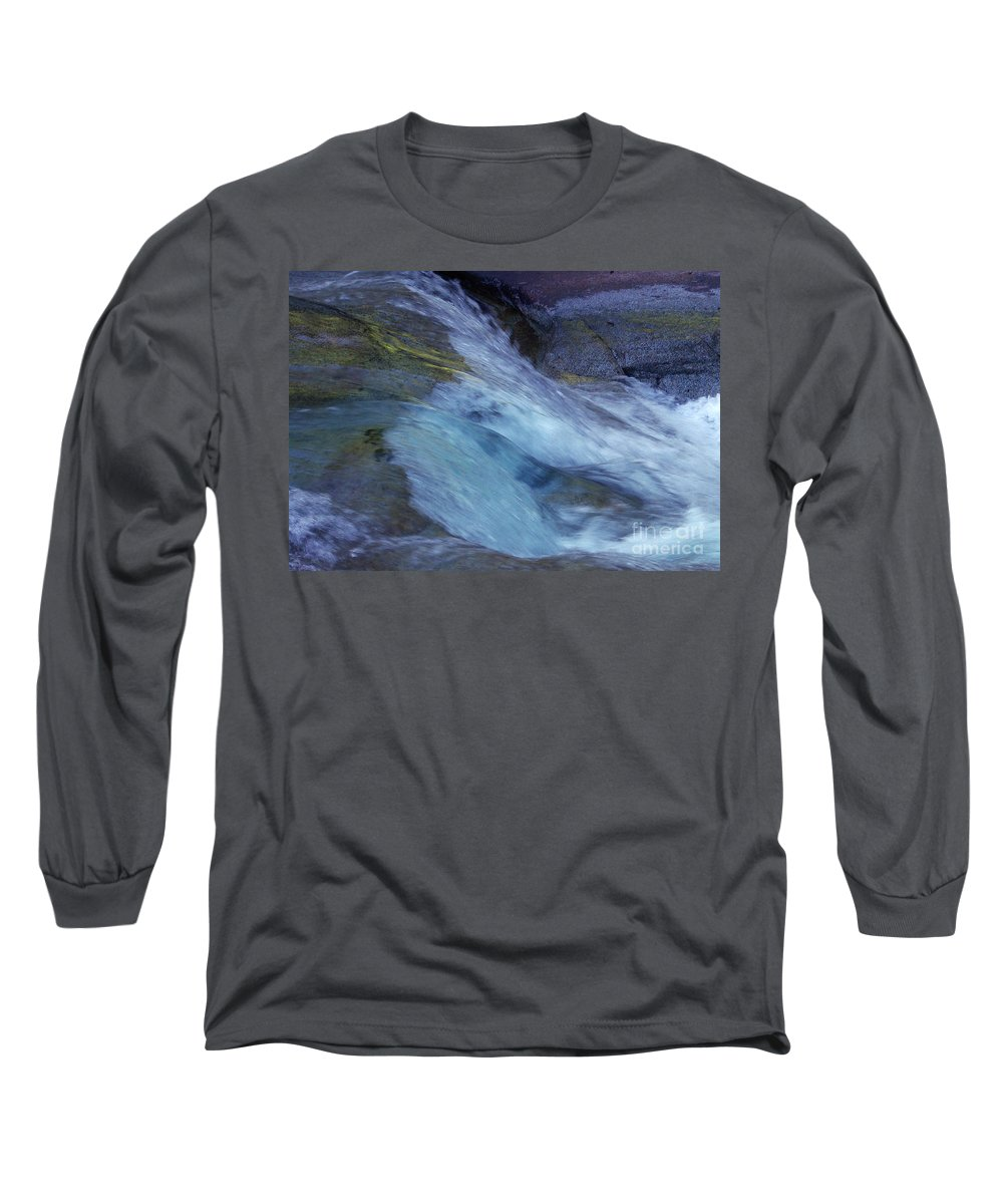 Nature Long Sleeve T-Shirt featuring the photograph Tropical Flowing Waters by Kerryn Madsen- Pietsch