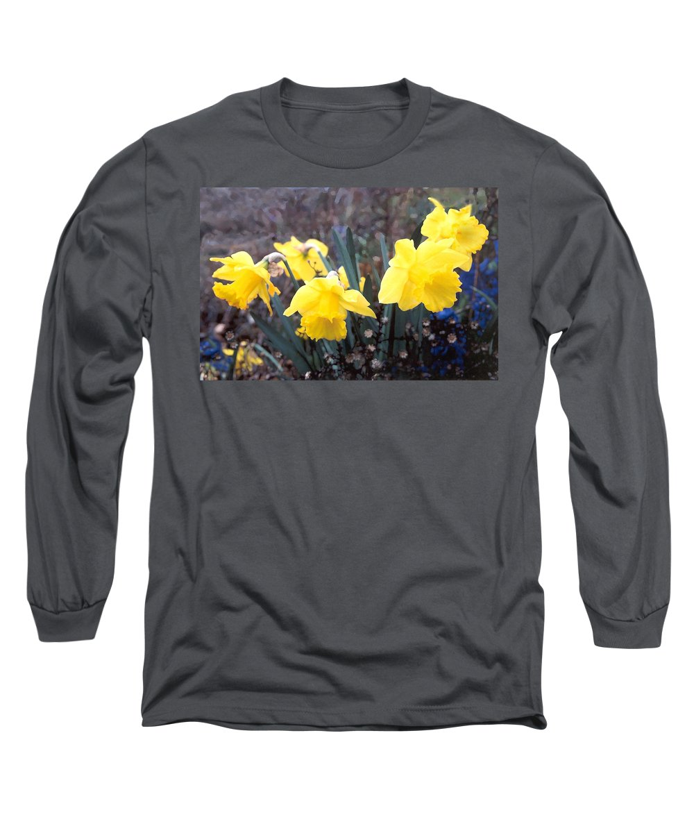 Flowes Long Sleeve T-Shirt featuring the photograph Trumpets Of Spring by Steve Karol