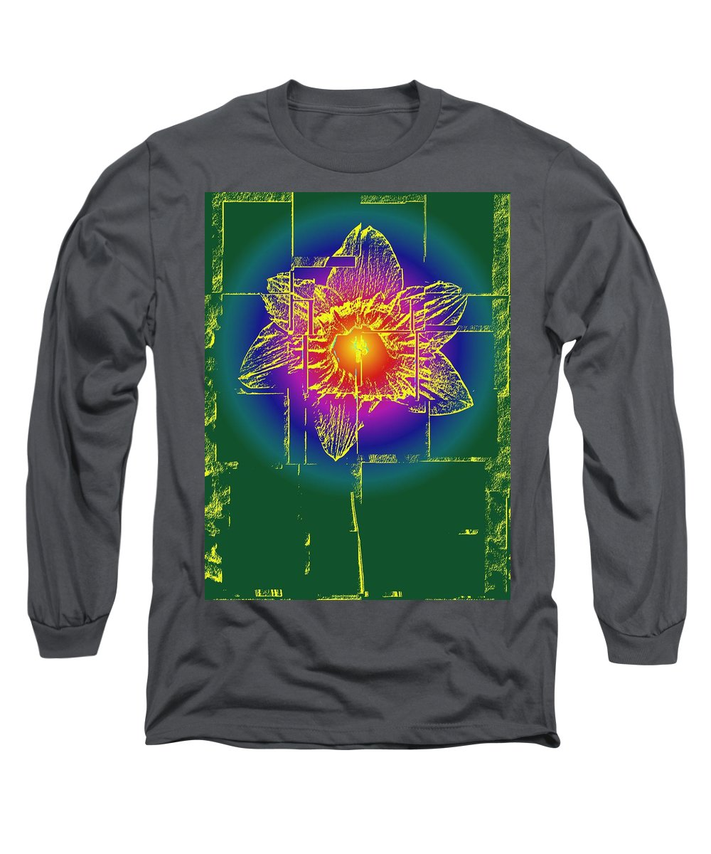 Tulip Long Sleeve T-Shirt featuring the digital art Tulip by Tim Allen