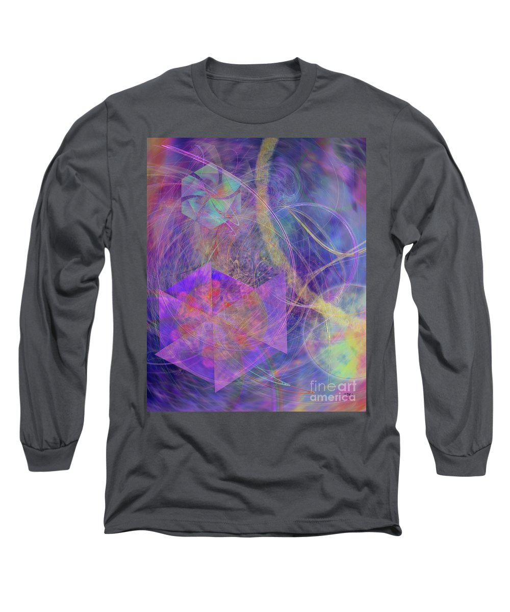 Turbo Blue Long Sleeve T-Shirt featuring the digital art Turbo Blue by John Beck