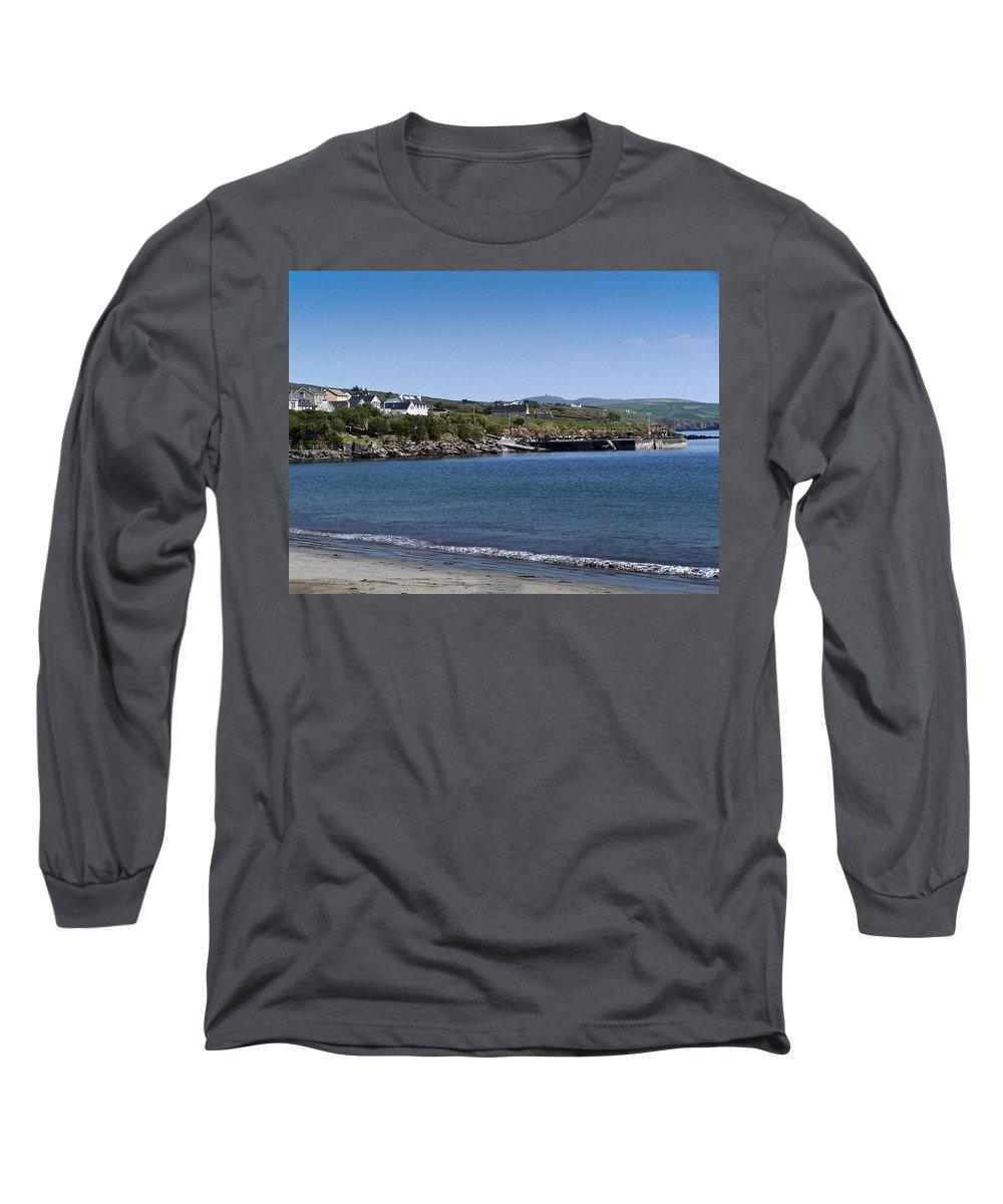 Irish Long Sleeve T-Shirt featuring the photograph Ventry Beach And Harbor Ireland by Teresa Mucha
