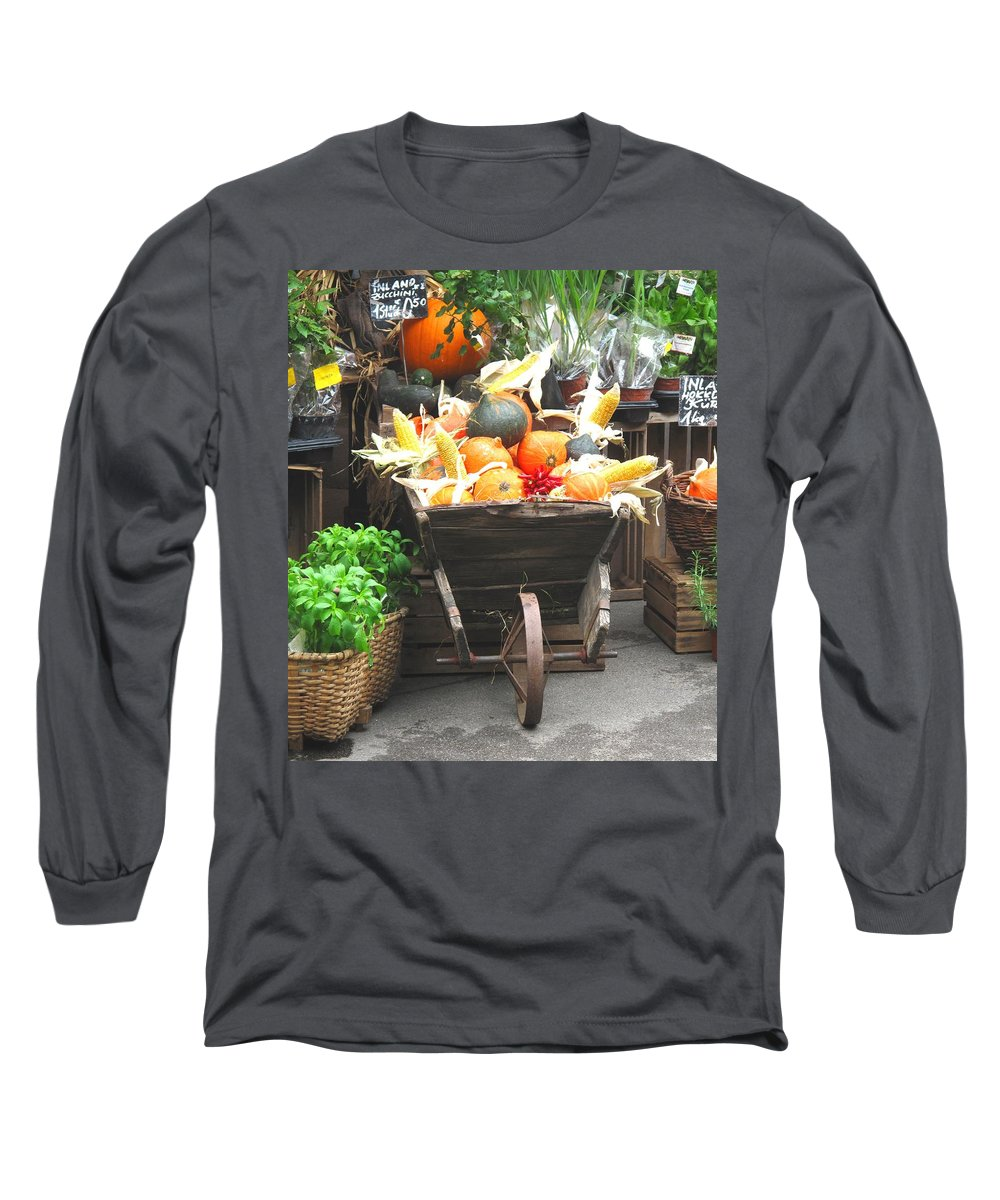 Vienna Long Sleeve T-Shirt featuring the photograph Vienna New Market by Ian MacDonald