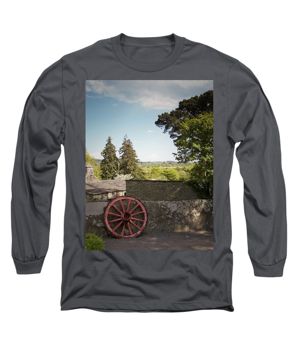 Irish Long Sleeve T-Shirt featuring the photograph Wagon Wheel County Clare Ireland by Teresa Mucha