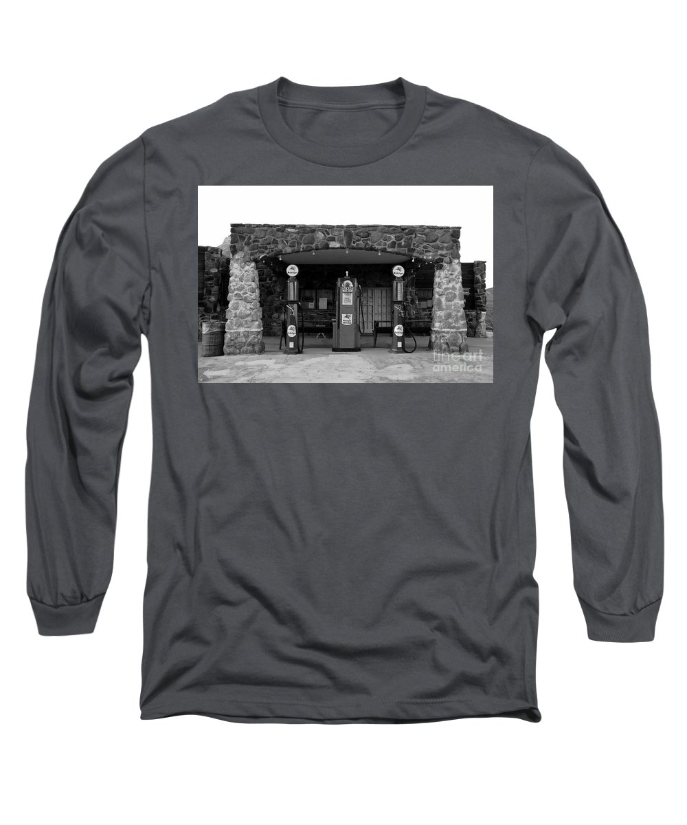 Route 66 Long Sleeve T-Shirt featuring the photograph Waiting For Business by David Lee Thompson