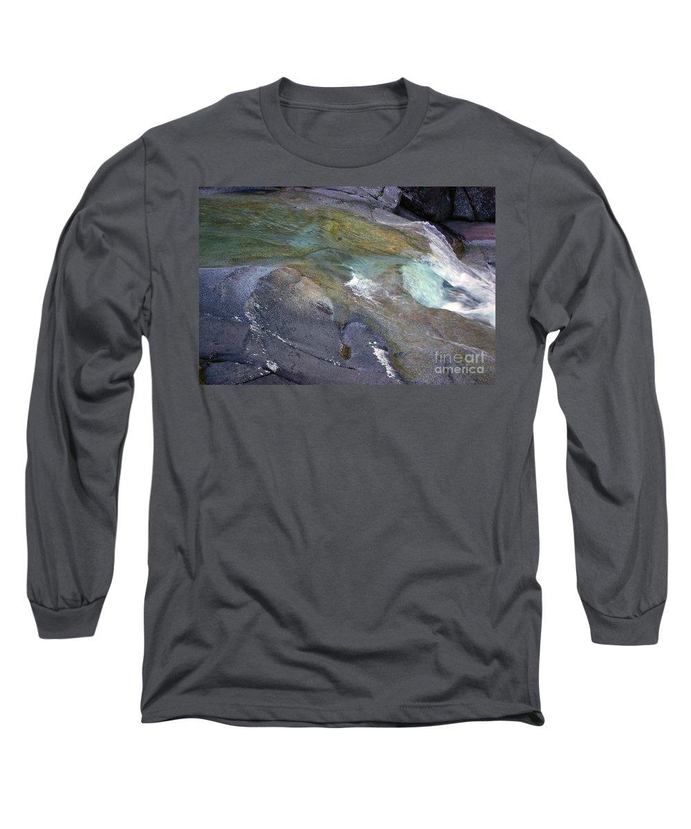 Tropical Long Sleeve T-Shirt featuring the photograph Water Flow by Kerryn Madsen- Pietsch