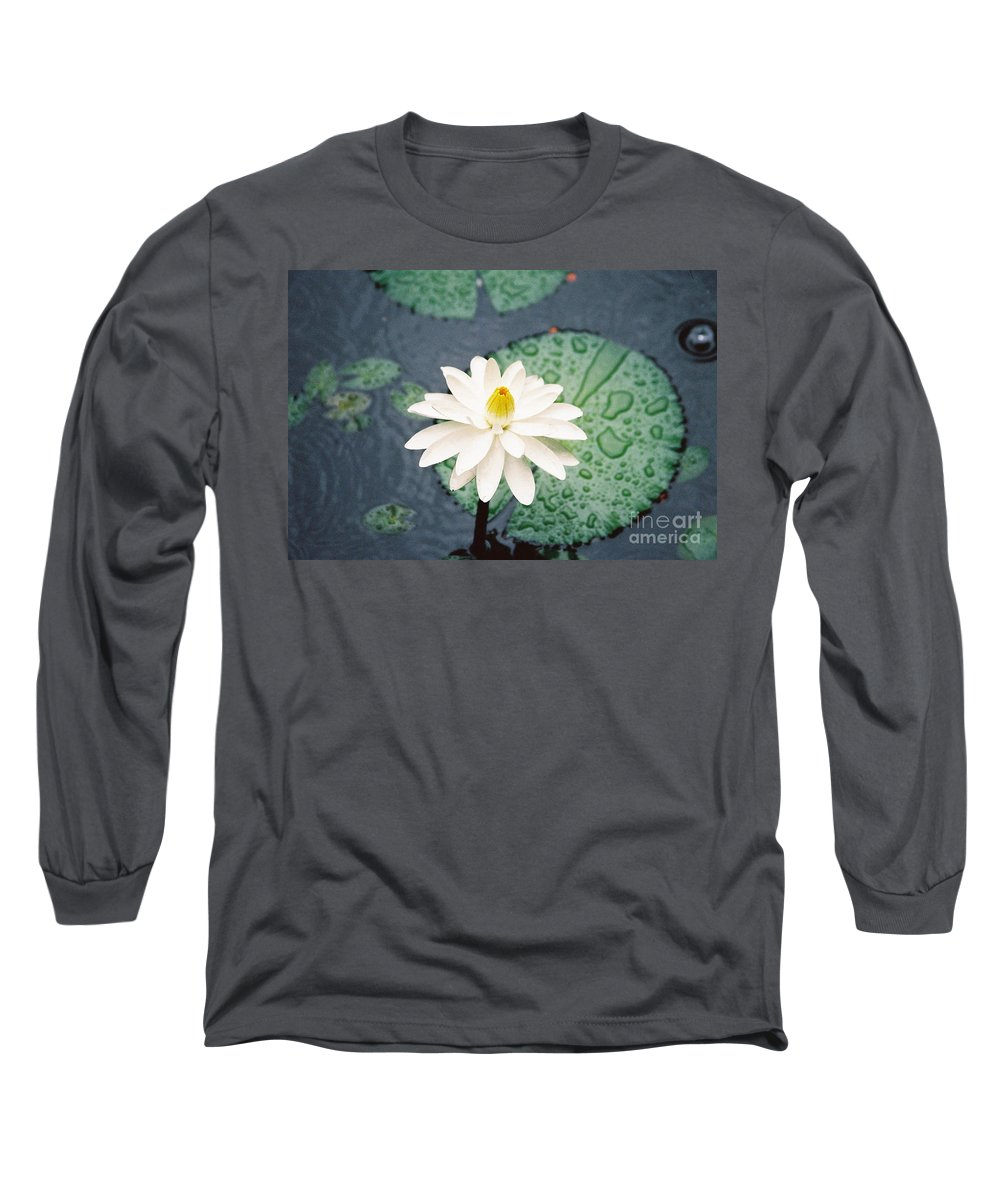 Flowers Long Sleeve T-Shirt featuring the photograph Water Lily by Kathy McClure