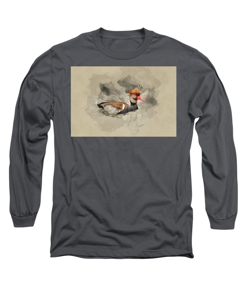 Red-crested Pochard Long Sleeve T-Shirts