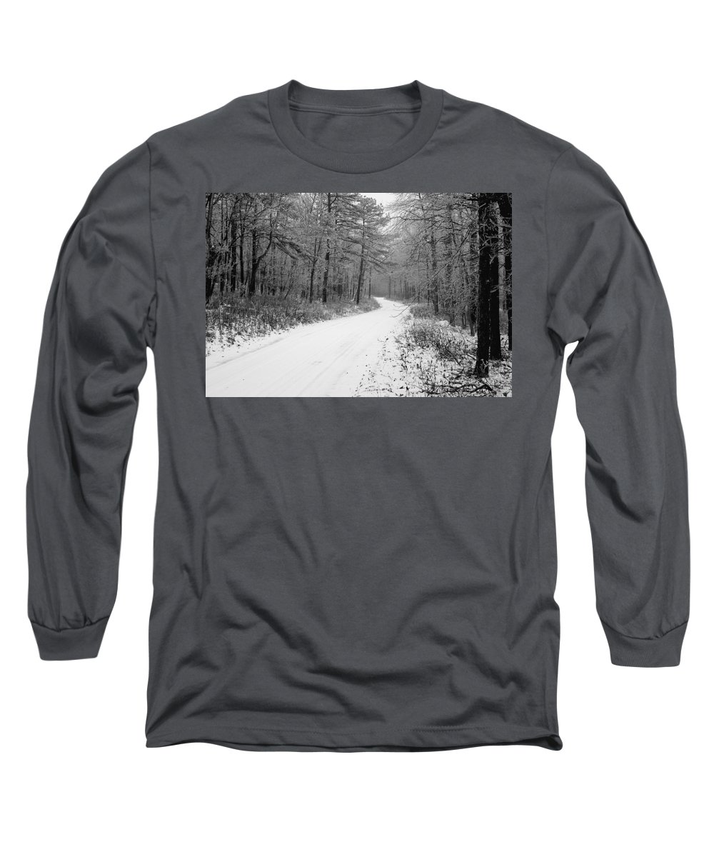 Winter Long Sleeve T-Shirt featuring the photograph Where Will It Lead by Jean Macaluso