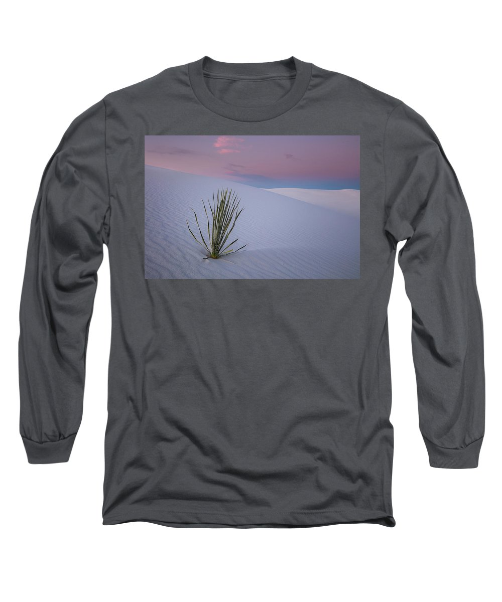 White Long Sleeve T-Shirt featuring the photograph White Dunes by Edgars Erglis