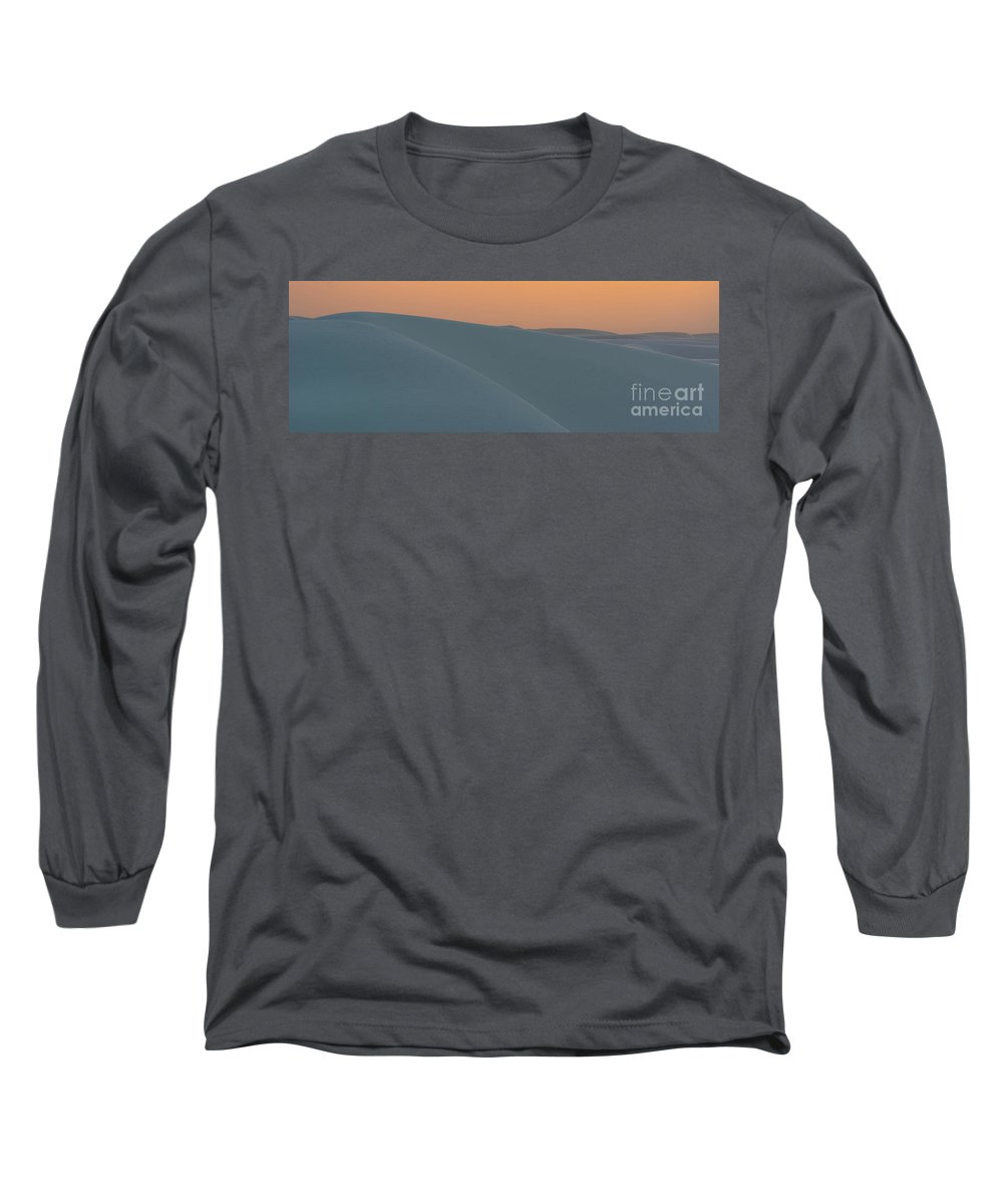 White Sands National Monument Long Sleeve T-Shirt featuring the photograph Blue Miles by DiFigiano Photography