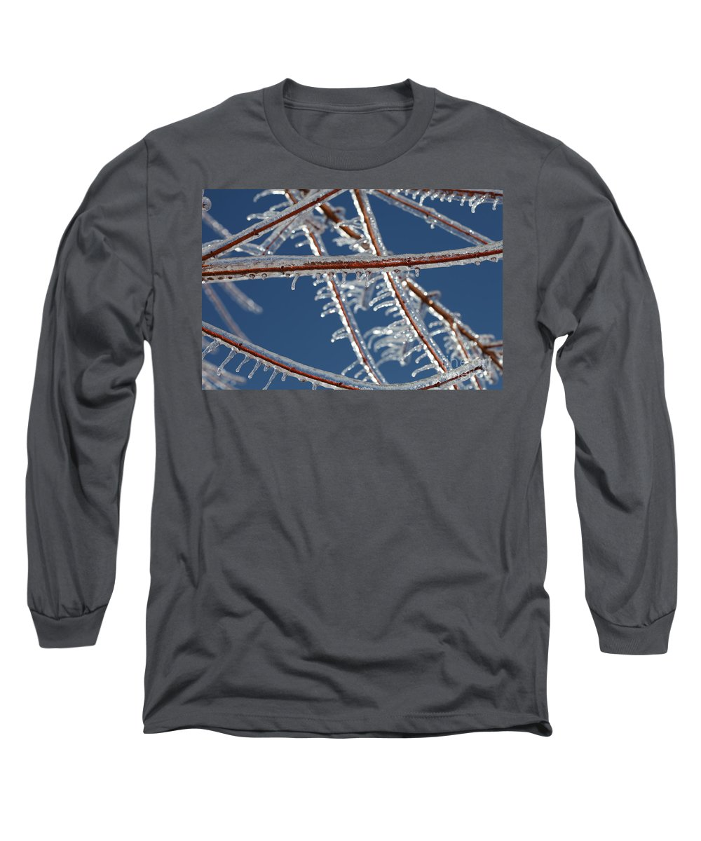 Winter Long Sleeve T-Shirt featuring the photograph Winter Blue by Nadine Rippelmeyer