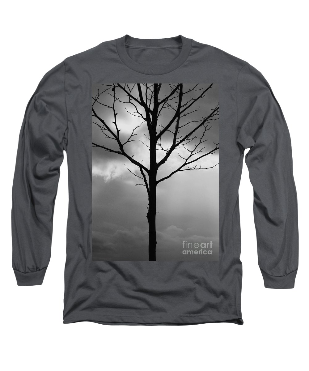Winter Tree Long Sleeve T-Shirt featuring the photograph Winter Tree by Carol Groenen