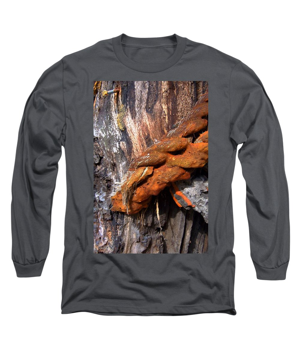 Wood Long Sleeve T-Shirt featuring the photograph Wood And Iron Braid Image by Laurie Paci