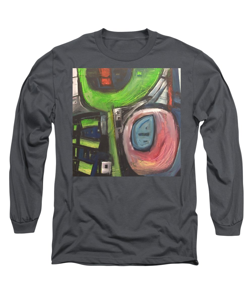 Abstract Long Sleeve T-Shirt featuring the painting YO by Tim Nyberg