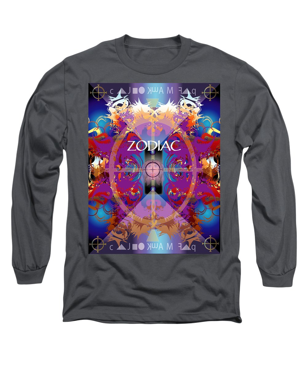 Abstaract Long Sleeve T-Shirt featuring the digital art Zodiac 2 by George Pasini