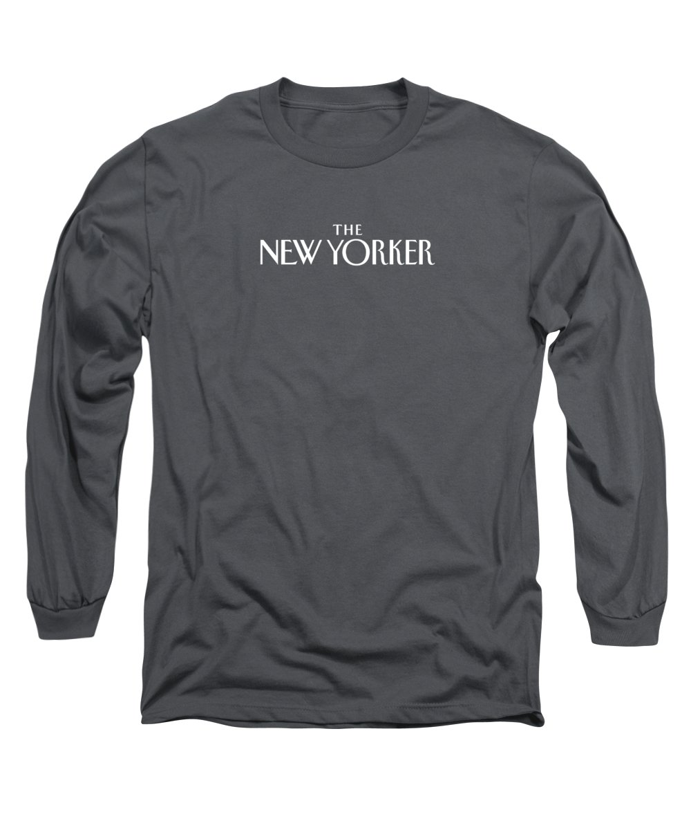 Long Sleeve T-Shirt featuring the digital art The New Yorker Logo - Back Of Apparel by Conde Nast