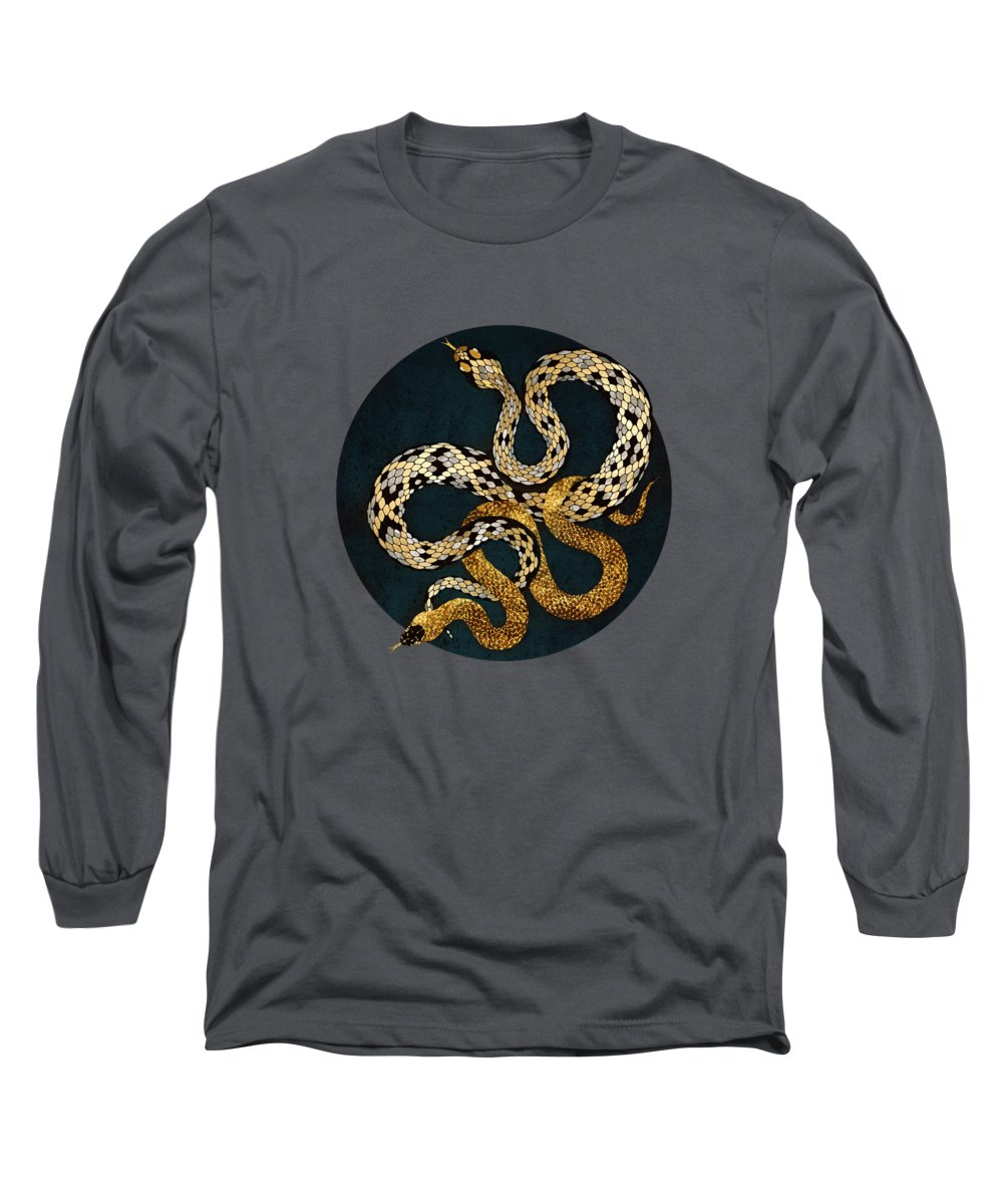 Serpent Digital Art Long Sleeve T-Shirts