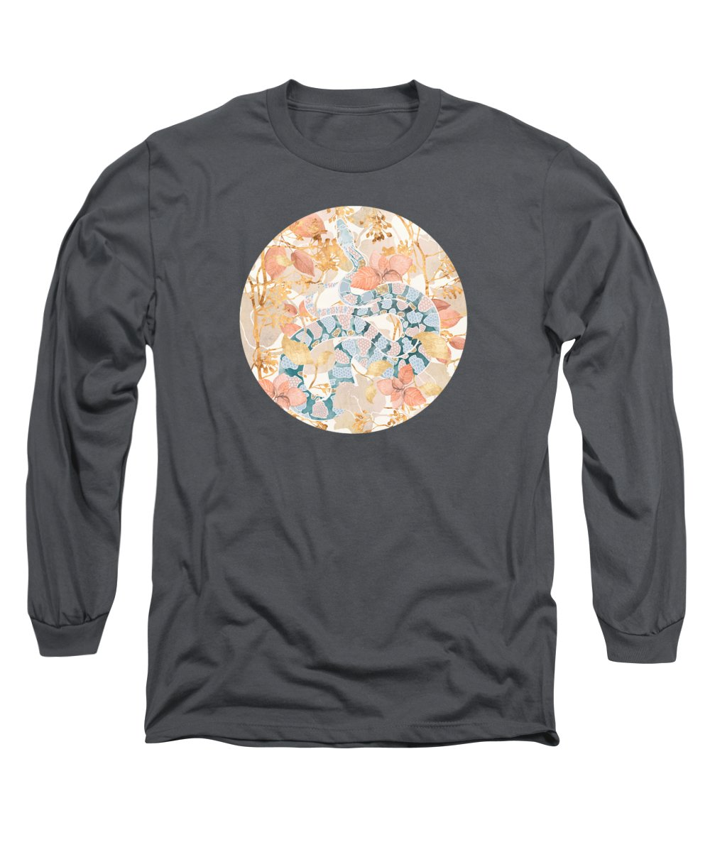 Coral Long Sleeve T-Shirt featuring the digital art Coral Spring Garden by Spacefrog Designs
