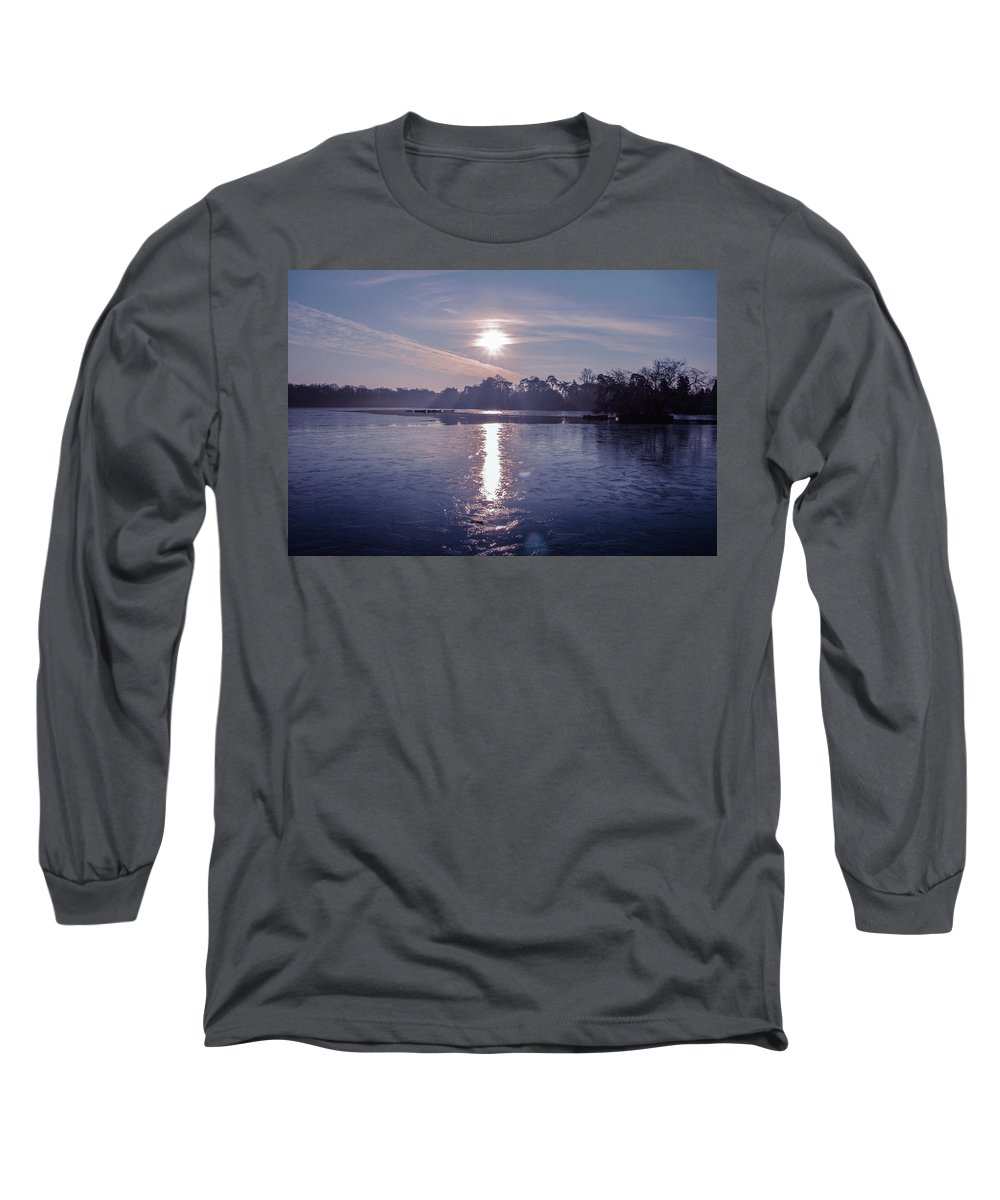 Frozen Lake Photographs Long Sleeve T-Shirts