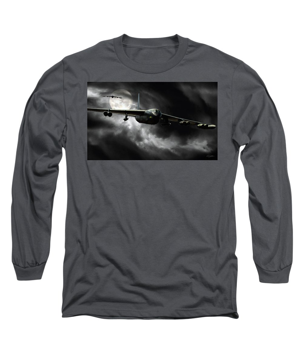Aviation Long Sleeve T-Shirt featuring the digital art Linebacker 2 by Peter Chilelli