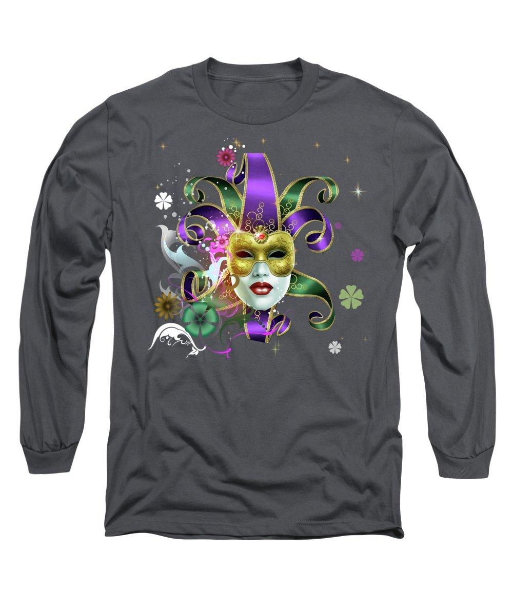 Moreno Long Sleeve T-Shirt featuring the mixed media Moreno Incognito by Peter Awax