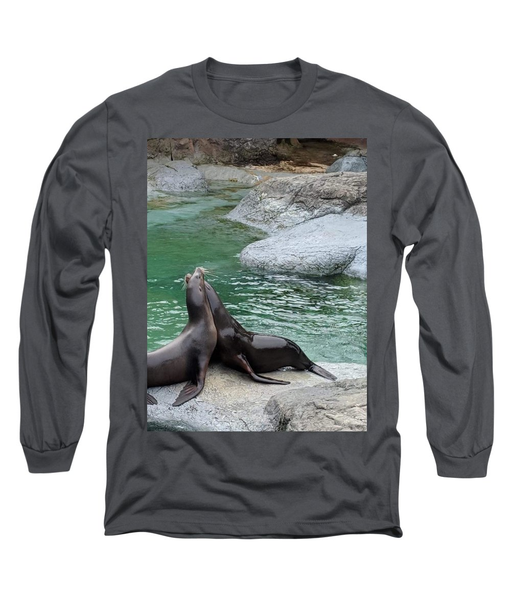 Blue Long Sleeve T-Shirt featuring the photograph Seal by Aswini Moraikat Surendran