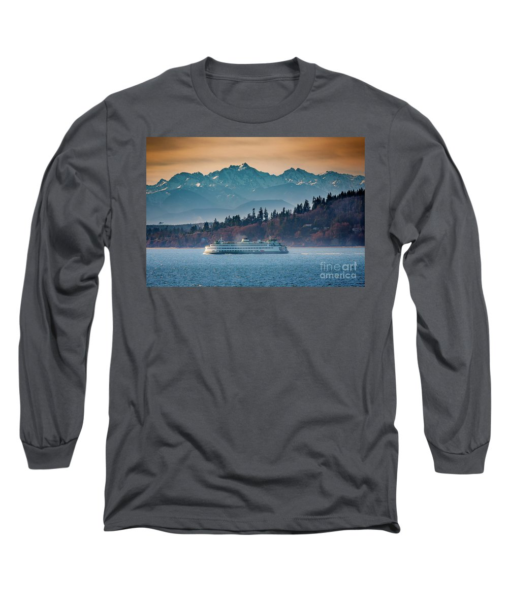 Olympic Mountains Photographs Long Sleeve T-Shirts